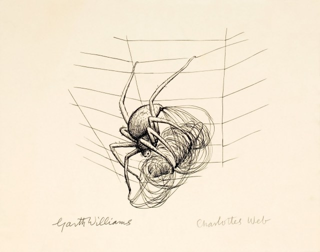 Charlotte's Web, page 38 illustration, 1952, GM Williams